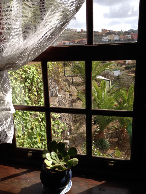 Fenster La Papaya Finca Los Geranios