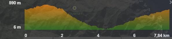 Profil der Wanderung Chamorga-Rque Bermejo